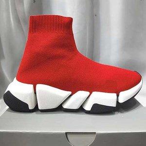 Homens Mulheres Sapatos casuais Sock VELOCIDADE Shoe 2,0 Sports malha estiramento Sneakers Speed Trainer Sock Raça Comfort Sapatos Pretos Branco Oreo Q66