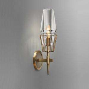 Lampada da parete di cristallo moderna Lampada da parete oro luci AC110V 220V Fashion Luxury Luster Soggiorno Camera da letto Light Fixtures