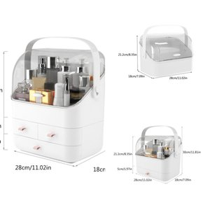 Makeup Box Organizer Large Capacity Cosmetic Organizer Holder Makeup Storage Box Dressing Table Container Sundries Case J1216