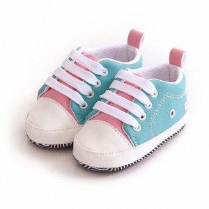 Bello del bambino Sneakers bambino appena nato pattini della greppia del bambino delle ragazze Laces morbida soli pattini Nuovo Dall #