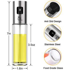BBQ Cooking Glass Oil Sprayer Glass Oil Sprayer Olive Pump Stainless Steel Spray Oil Bottle Sprayer Can Jar Pot Kitchen Tool GGA3762-9