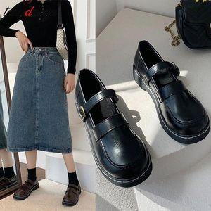 Japanese student sweet lolita shoes kawaii girl jk uniform cosplay kawaii shoes vintage round head women loli cos #Yy97