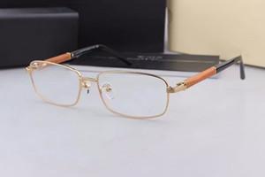 Lüks Tasarlanmış Noble Erkekler Küçük Fullrim Optik Gözlük Çerçevesi 55-17-140 Hafif Ahşap Bacak Miyopi Presbiyopi Gözlük Fullkets Case448