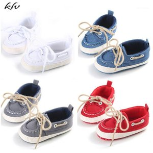 Infants Baby Shoes Boys Girls Soft Soled Crib Shoes Laces Up Canvas Sneaker First Walkers 0-12Month New1
