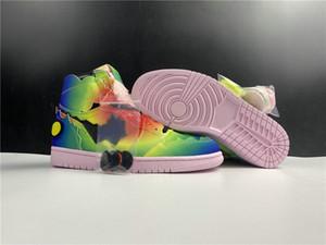 Novo exclusivo J Balvin 1 Basquetebol Designer Sapatos Multi Cor Preto Pink Foam Fashion Chaussures Trainers Alta Qualidade Tamanho36-46