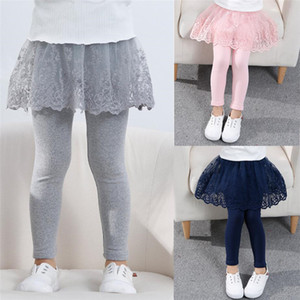 2020 Cotton Baby Girls Leggings Lace Princess Skirt-pants Spring Autumn Children Slim Skirt Trousers for 2-7 Years Kids Clothes