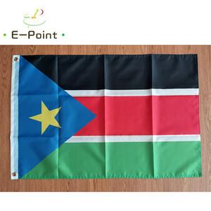 Südsudan Flagge Nationale Land 3 * 5ft (90 cm * 150 cm) Polyester Flagge Banner Dekoration Fliegen Home Garten Flagge Festliche Geschenke