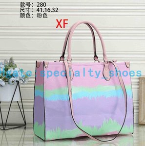 Top quality Women Handbags Totes Shoulder bags Classic Old flowers The cluth composite Purses Wallet Cowhide material