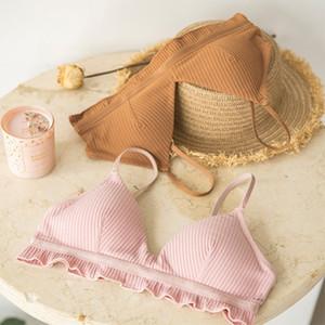 Wasteheart Frauen Spitzen schneiden Cotton Schlüpfer-Unterwäsche Sexy BH-Set Luxus Frankreich Nahtlose verführerische Wäsche-Sätze