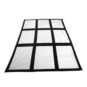 Blank Sublimation Blanket Thermal Transfer Fabric Plush Fleece Plush Blankets DIY Carpet Grids Plaid Mat Carpet Quilt 125*150cm sale F102002