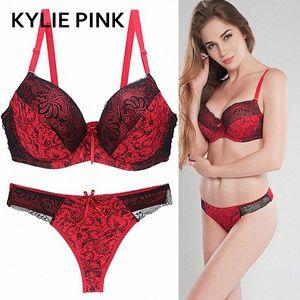 KYLIE PINK Mulheres Bra Panties Define Lace Push Up Bras Lingerie For Ladies Plus Size Bust Verão Y200115 X6s0 #
