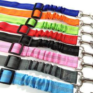 Pet Dog Safety Vehicle Car Seat Belt Elastic Reflective Dog Seatbelt Harness Lead Leash Clip Levert DHL