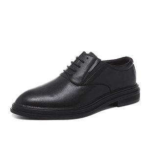 Breathable Derby Shoes Men Casual Cushioned Comfort Formal Lace-up Oxford Dress Shoes Black Size 6~10