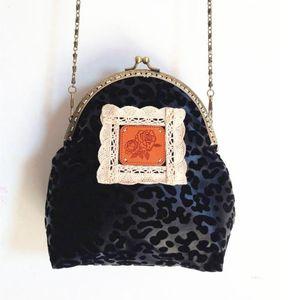 Muti Grid Purse Lace Money Wallet Purse Bag Bag Free Make Vintage Drawstring Women Bags Flower Black Leopard Coin Up Shipping Qpimf