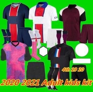 Bambini adulti Kit 20 21 Icardi Mbappe Marquinhos Jersey di calcio 2020 2021 Verratti Men Kids Sets Kimpiembe Florenzi Maillots de Camicia da calcio K