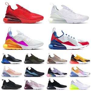 Высочайшее качество Спорт 270 Подушка Беговые Обувь Университет Красный Трехместный Белый Пасхальные Вибрации Земли для мужчин Женщины Черный Точечные Тренеры Теннис Кроссовки