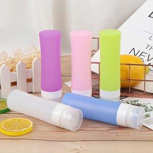 1 pz Contenitori da bagno Rifinibili Bottiglia in silicone Mini Viaggiatore Imballaggio Bottiglia per imballaggio per lozione Shampoo Silicone Ricaricabile1