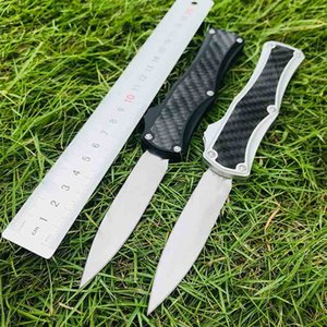 Microtech goddess Angela fighting Troodon automatic knife double-edged 3K carbon fiber high hardness outdoor camping EDC 3300 3310 3400 tool