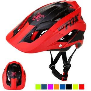 BATFOX Hommes Casque de vélo mat rouge femmes Casques de vélo Casco Capacete Da Bicicleta Casque