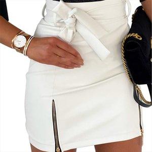 Leather Pencil Street Club Skirt Women Sexy Black High Waist Bodycon Zipper Skirt Plus Size S 2Xl