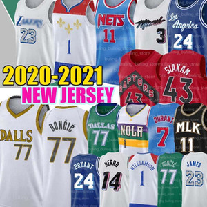 77 Doncic 1 Williamson Basketball Jerseys Zion Luka Kyrie Lebron 23 James Kevin 7 Durant 11 Irving 2021 New Dwayne Pascal Wade Siakam