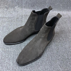 New Men's Boots Genuine Calf Leather Bottom Outsole Calf Leather Upper Leather Inner Handmade Boot Shoes