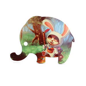 Sublimación en blanco Pinturas de madera Originalidad Elephant Desktop Ornamentos Madera Pintura Niños Regalos Conejo Animal Venta Caliente 11 4xmb P2