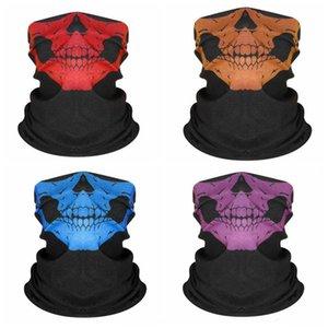 HIP HOP SKULL Bandanas Magic Sans couture Bandana Headscarf Imprimé Masque Visage Visage Masque Coulée Coulée Fauts de tête Sport Magic Bib Band YHM05-5