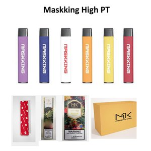 Authentische Maskking High PT 450 Puffs Einweg-Vape-Pod-Gerät UAE-Dubai Bestseller High Pro GT 2.0 ES-Flach-Ecig-Stift-Kit