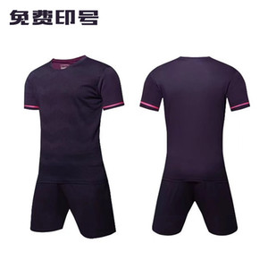Men Adult soccer jersey short sleeve soccer shirts football uniforms shirt+shorts --S070104-7