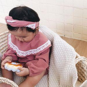 2020 invierno verano coreano mameluco mono algodón cómodo encantador recién nacido bebés ropa ropa de pelo encaje trabajo volantes C1108