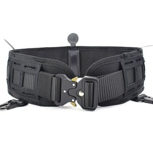 New Laser Cutting Tactical Waist Belt Water Resistant Adjustable Training Waistband Support for Molle System