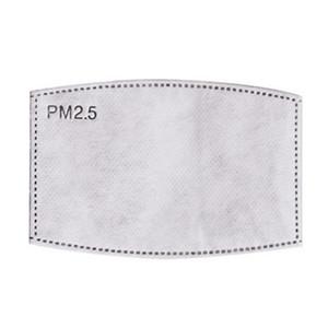 5 capas protectoras PM2.5 Máscara desechable PAD Mascarillas Mascarillas de repuesto Pad Inner Junta de reemplazo Filtro Pad Respirator EWC3163