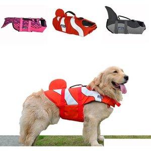 Dog Life Jackets Coat Pet Safety Swimsuit Floatation Life Vest Preserver Mermaid Nemo Shark 3 Sizes 6Ugrc