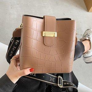 3 Brand Shoulder Pockets Small Pattern Women PU 2021 Stone Leather For Bag Crossbody Fashion Belt Lady Bags Bag Bucket Handbags Qthxp