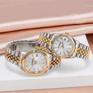 Новый Montre de Luxe Мужские Автоматические Часы Женщины Платье Полная Нержавеющая Сталь Сапфир Водонепроницаемые Светающие Пары Стиль Классические наручные часы U1