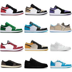 2020 Jumpman Low 1 1s basketball shoes top OG black toe court purple SP Travis Scotts men women sneakers Eur 36-46 without box