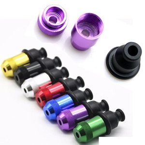 Wholesale Mini Nipple Pacifier Snuff Colorful 55mm 21mm OD Dry Herb Tobacco Smoking Pipe Metal Zeppelin Pipes Hand Detachable Plastic