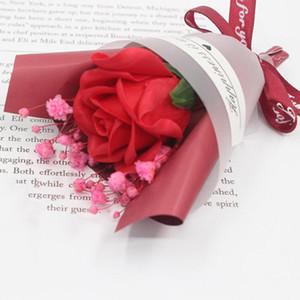 Mini día de San Valentín Día Regalo Secado Flor artificial Falso Falso Gypsophila Ramo Creativo Eterno Gypsophila Ramo de jabón de jabón EWF4260