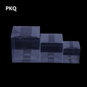 10pcs Petite boîte cadeau carré en plastique transparent Fête de mariage Bonbonnière caja de dulces Effacer les emballages en PVC pour l'affichage des jouets