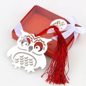 1pcs Owl Prenota Marcatori piccioni con nappe segnalibro del metallo di cancelleria per il regalo dei capretti libera il trasporto bbywtH hotclipper