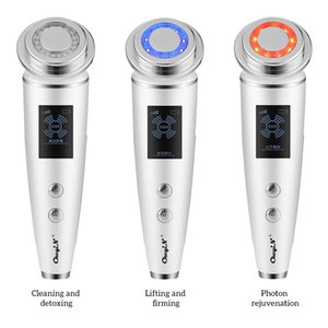 LED Photon Facial Massager Pore Cleaner Face Lifting Tightening Skin Rejuvenation Warm Vibration Anti-aging Skin Care Tools 48R