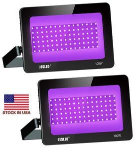 Projektörler UV 10W 20W 30W 50W 100W Su geçirmez Siyah Işık Parti Neon Aydınlatma COB Ultraviyole Sel LED Işık İçin Sahne Ekipmanları