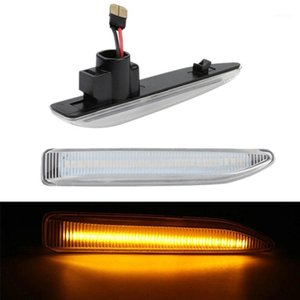 2Pcs Car LED Side Marker Lights Turn Signal Light Side Lamp for 7 Series E65 E66 E67 E68 White1