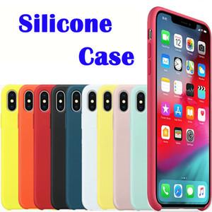 الأصلي جودة تصنيع المعدات الأصلية سيليكون القضية للحصول على 11 برو ماكس 7 8 زائد الهاتف القضية للحصول على اي XS X 6S زائد مع حزمة