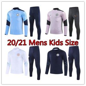 20 21 Манчестер Сити мужских куртки детей Jesus комплектов Rodrigo обучение ребенка матча до рубашки футбола DE Bruyne дети костюм футбол спортивной одежда