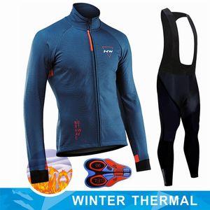 2020 Hiver nouveau costume Thermal Fleece Tenues de cyclisme Maillot Homme rapide en plein air sec Vélo VTT Vêtements chauds Salopette Set