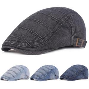 Women's Denim Caps Summer Casual Berets Hats Newsboy Driving Golf Adjustable Cap HATCS0399