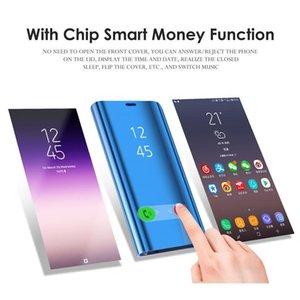 Akıllı Ayna Kılıf Huawei Y5 Lite Y6 Y7 Prime Y9 2018 Kapak Kılıfları için Huawei Y9 Y7 Y6 Bytqn