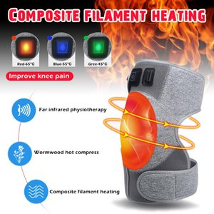 New Style Hot Sale Heated Knee Brace Wrap Rechargeable 3 Adjutsable Heat Keeps Warm For Arthritis Joint